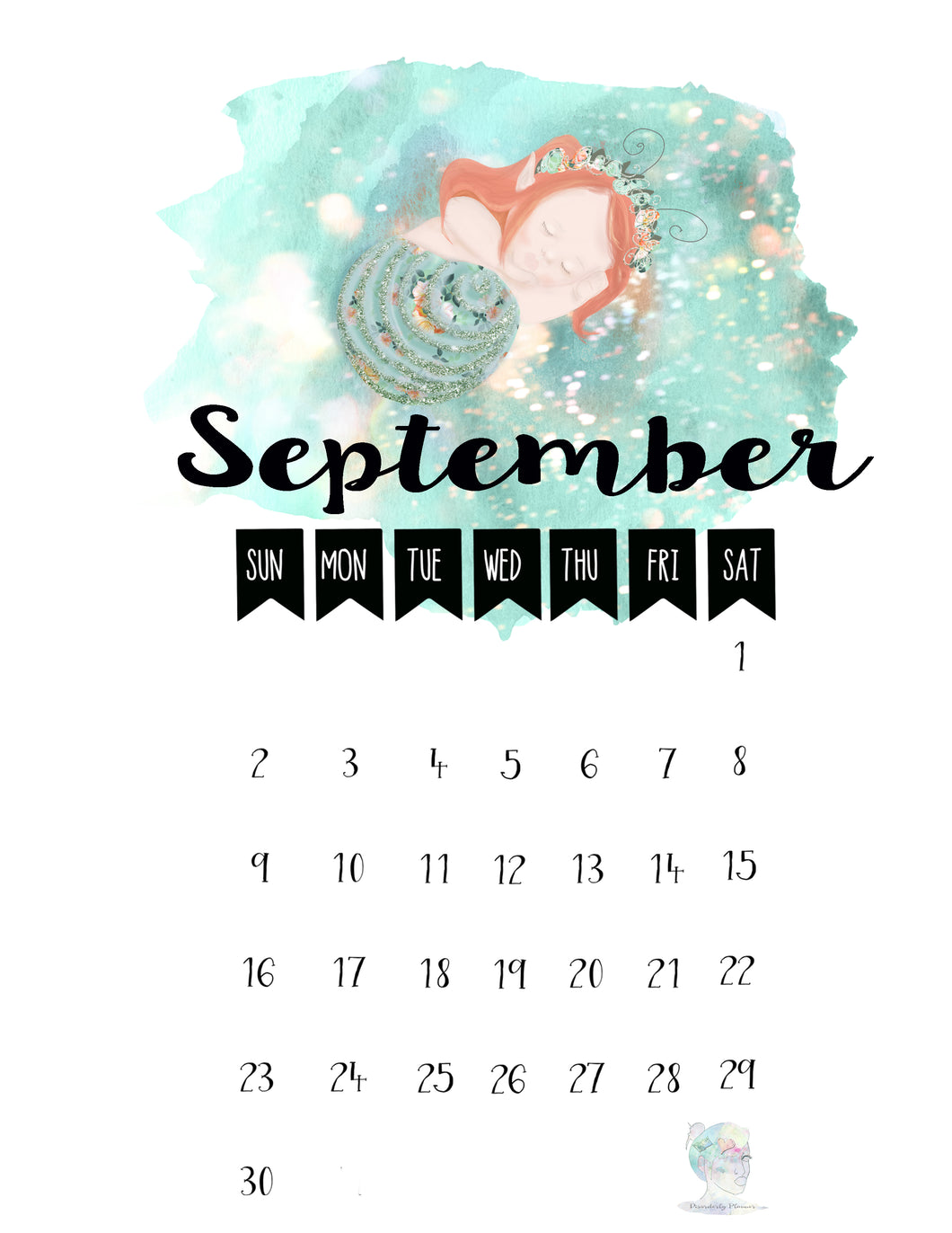 September Calendar 2018 -DIGITAL FILE ONLY - Personal Use Only