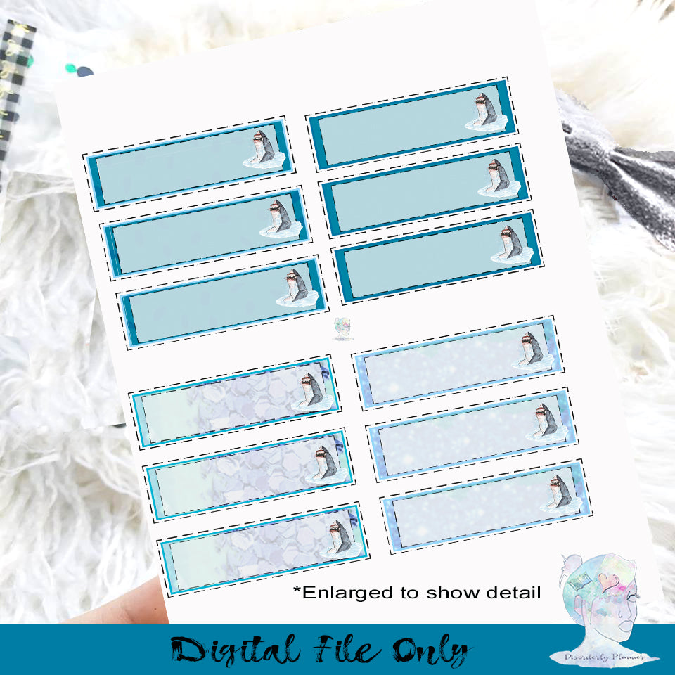 photo relating to Printable Planner Stickers called Shark 7 days Hobonichi Printable Planner Stickers