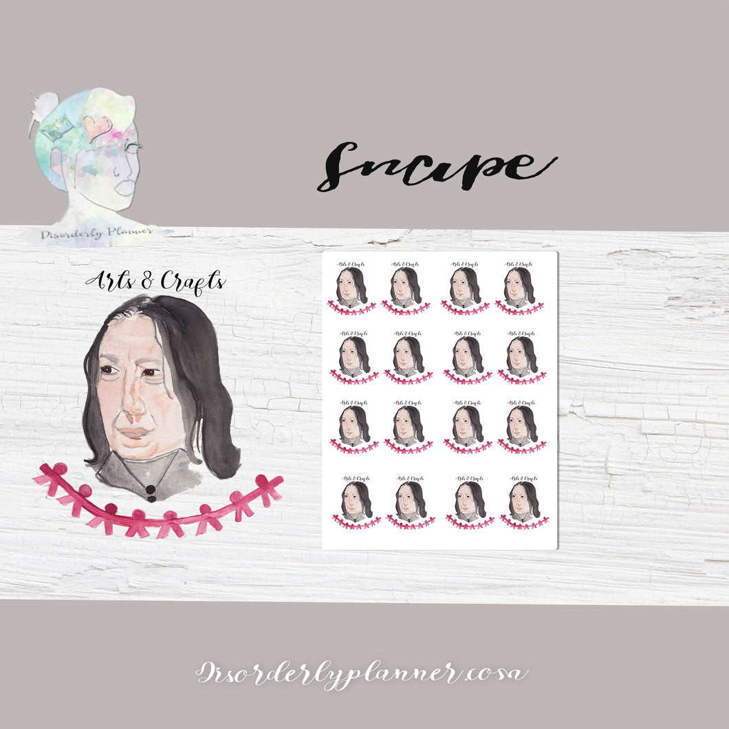 Harry Potter themed Snape Stickers - Celebrities