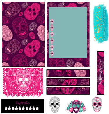Calavera Stickers- mini gothic kit- Disorderly Planner Stickers