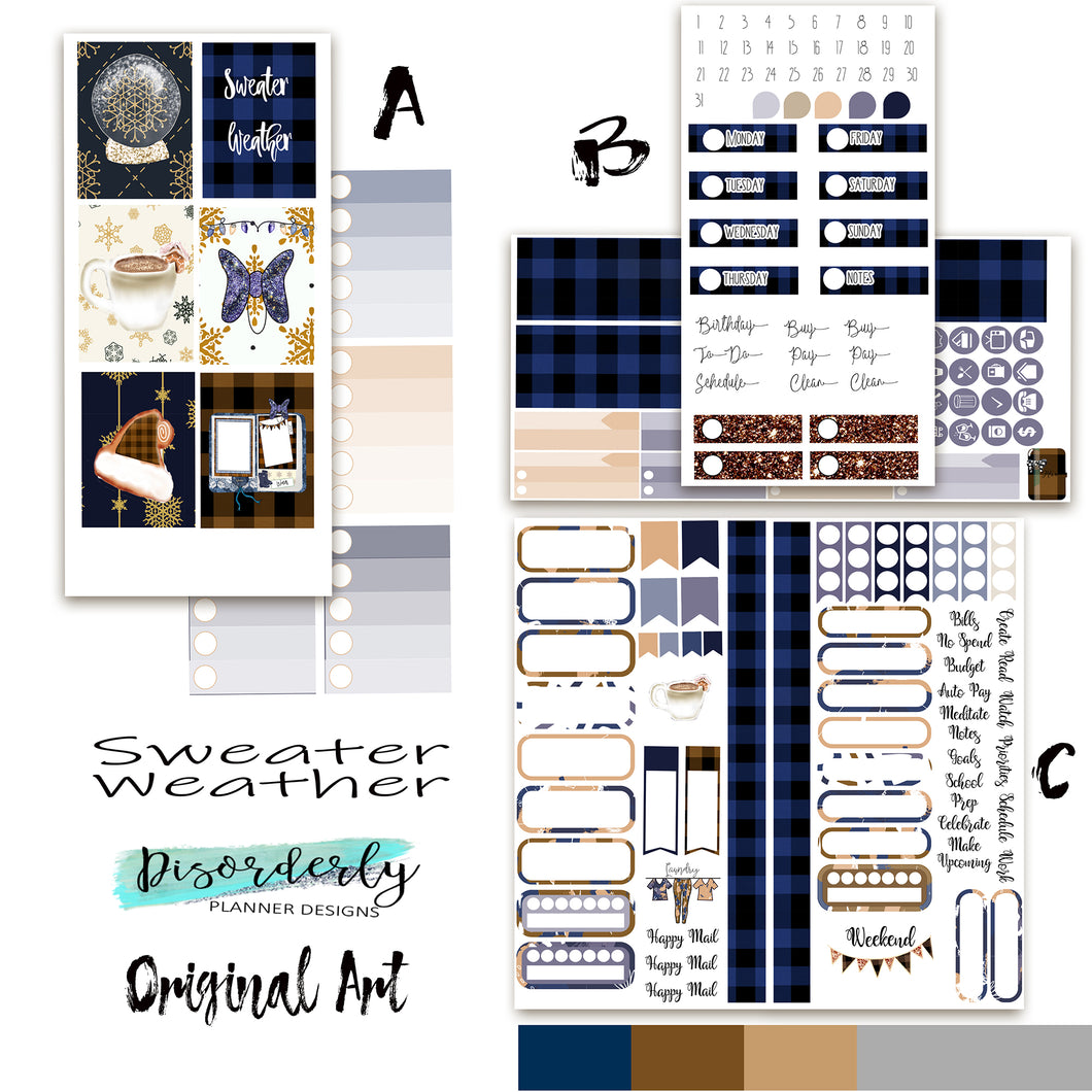 Sweater Weather - Sticker Bundle