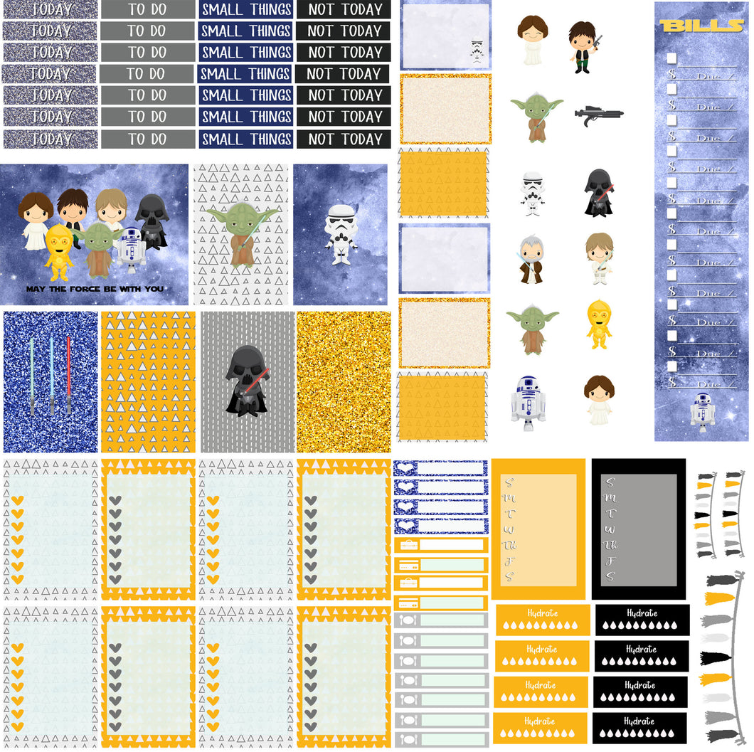 Star Wars Planner stickers -  Monthly stickers Planner Sticker