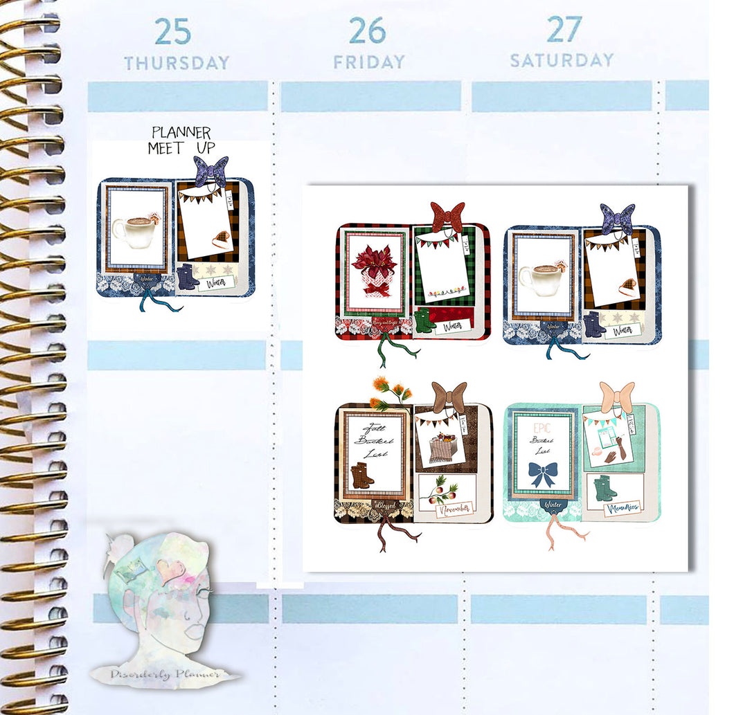 Holiday Decorative Stickers - Planner TNs