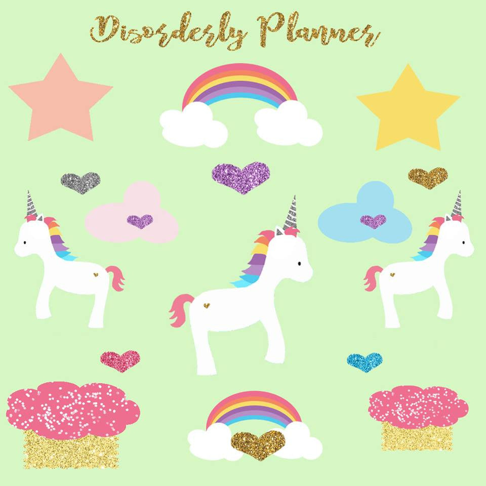 Unicorn Stickers - Planner Stickers - Decorative - Disorderly Planner Stickers
