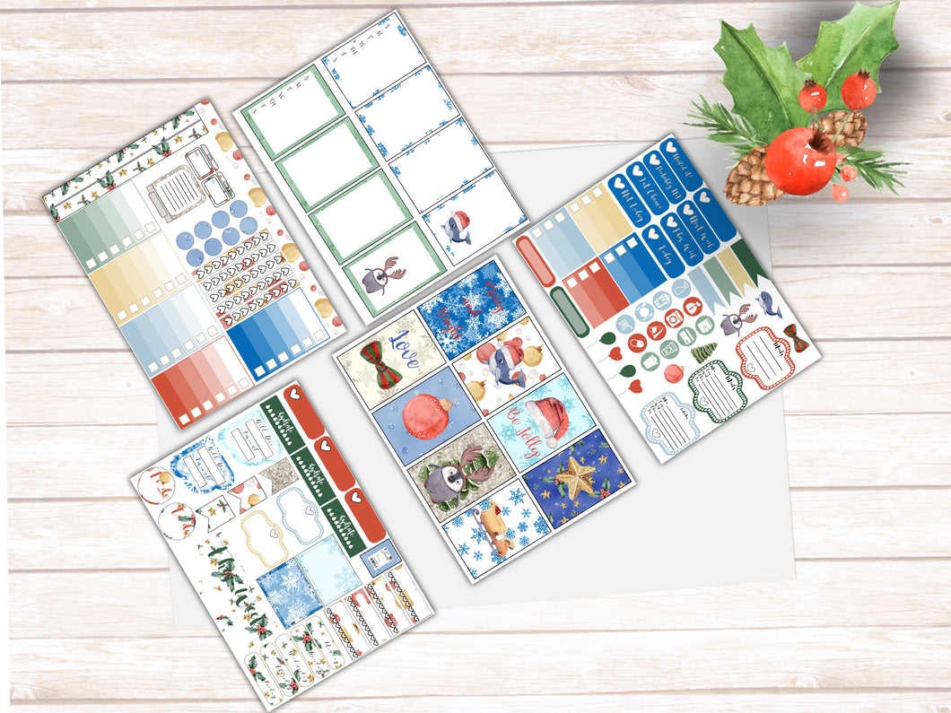 Sea Friends Antartic Christmas! Holiday Weekly kit