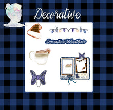 Holiday Decorative Stickers and Die Cuts - Blue