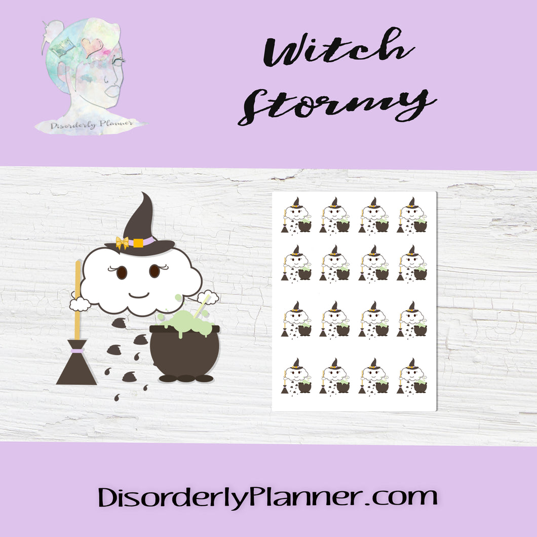 Witch Shit Storm Stickers