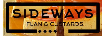 Sideways Flan & Custards Sticker - Sideways Fab