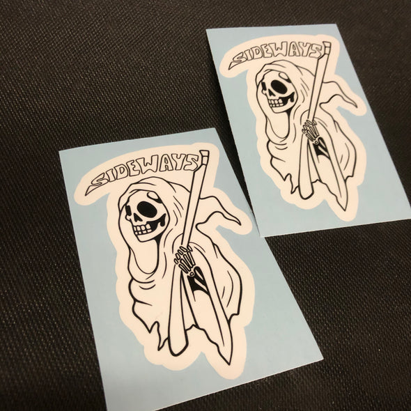 Grim Ripper Sticker - Sideways Fab
