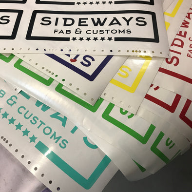 Sideways Fab Vinyl Sticker - Sideways Fab