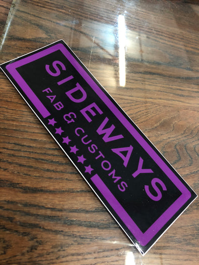 Sideways Fab & Customs Purple Slap Sticker - Sideways Fab
