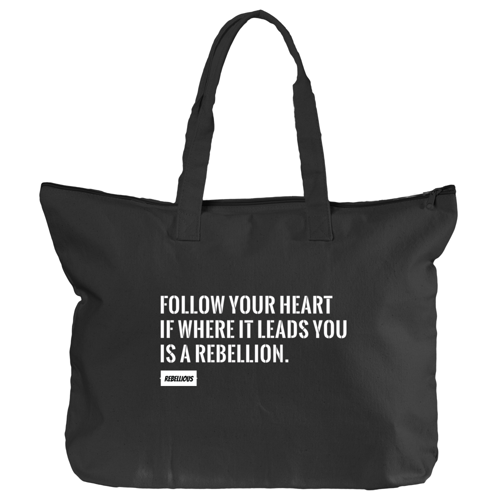 Black Tote: Follow your Heart