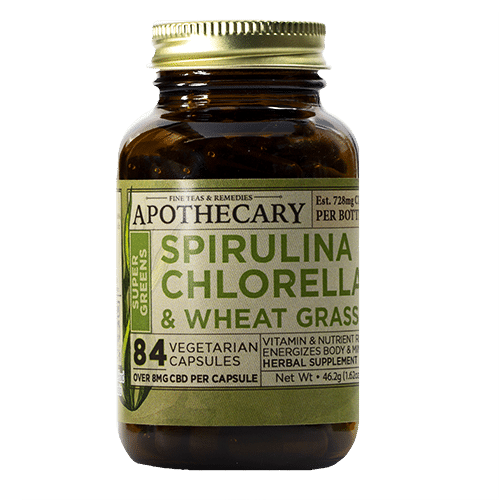 Super Greens | CBD + Spirulina & Wheatgrass Capsules
