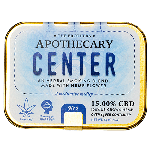 Center | Hemp CBD Smoking Blend