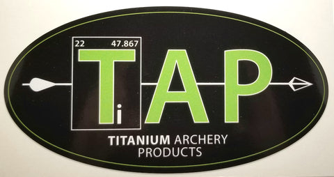 "TAP Laminated Decal - 3.5"" x 7"" (Original Logo)"