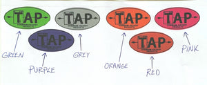 "TAP Standard Stabilizer Decals - 0.90"" x 1.78"" -- EIGHT CHOICES"