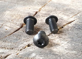 "LEFT HAND THREAD - Titanium Alloy (Gr. 5) - T-30 TORX DRIVE - Black Anodized - 5/16-24 x 5/8"" Button Head Screw (One)"