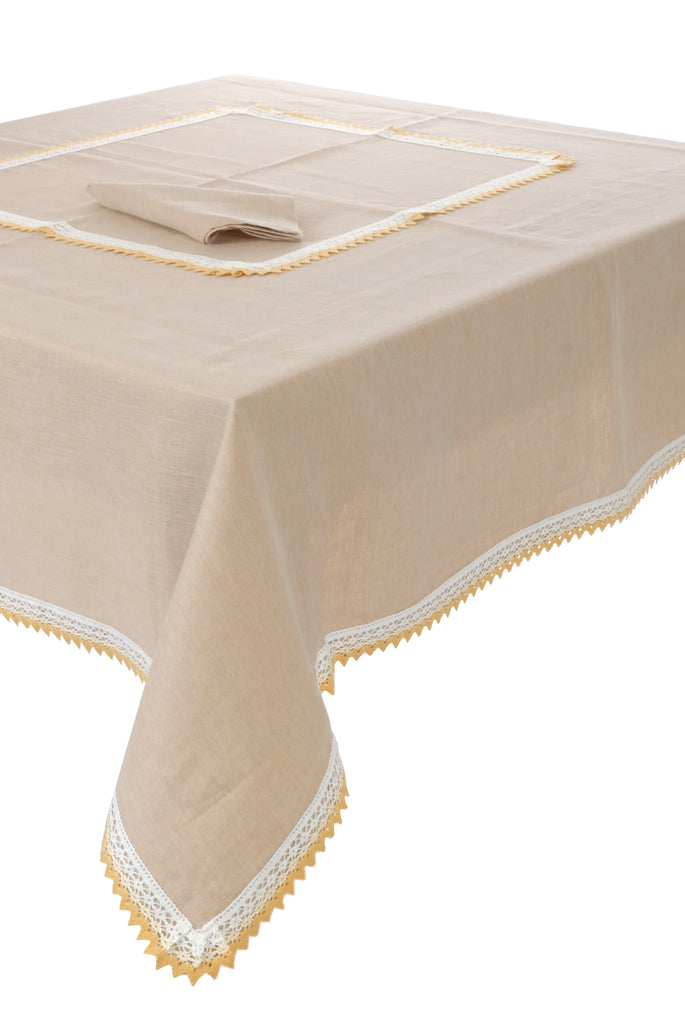 luxurious Linen Tablecloth Set - Panarea