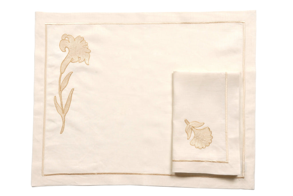 Fiori Table Mat Linen Set - Ponti Home