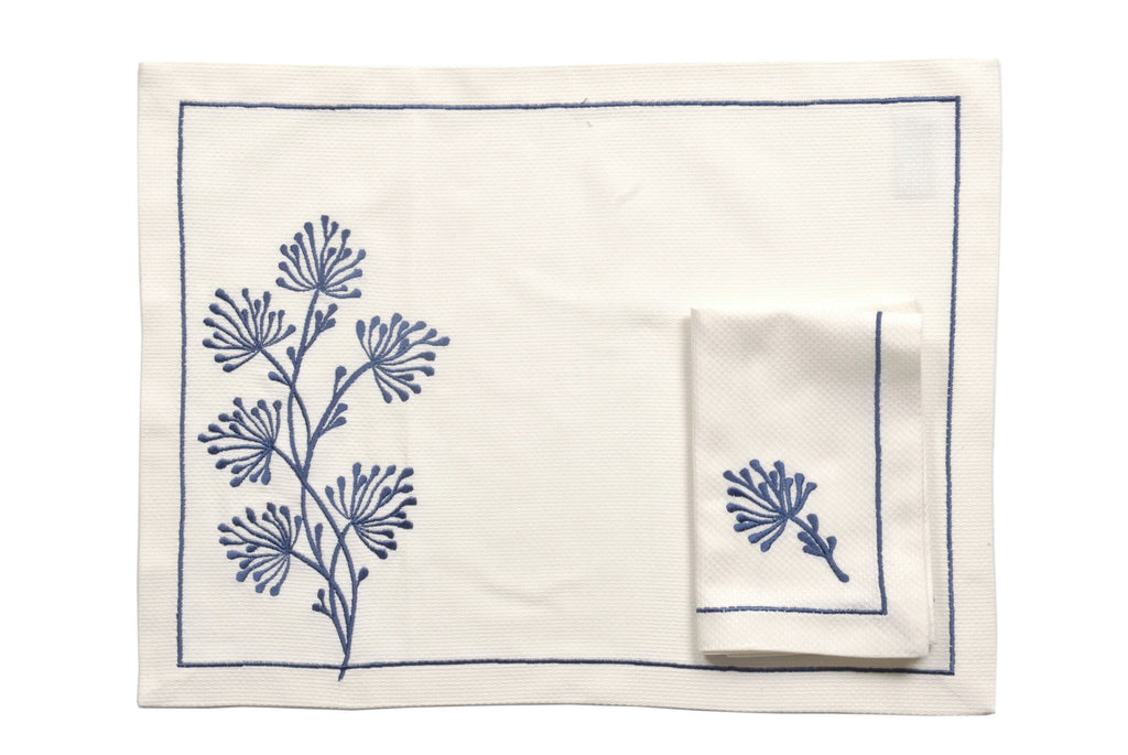 Navy Dreamy Table Mat Set - Ponti Home