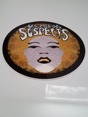 Sticker:  Afro Chick: Gold