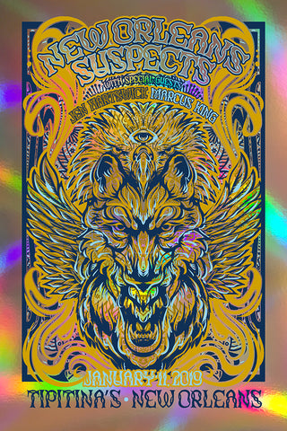 Tipitina's POSTER: FOIL EDITION:  SIGNED BY BAND/Marcus/Jen