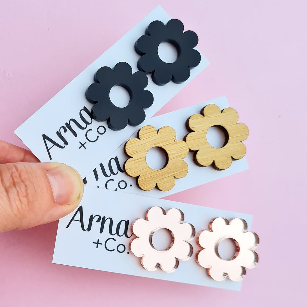 FLORAL DELIGHT Statement Studs