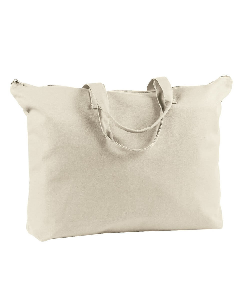 Tote - Canvas Zippered Tote 12oz