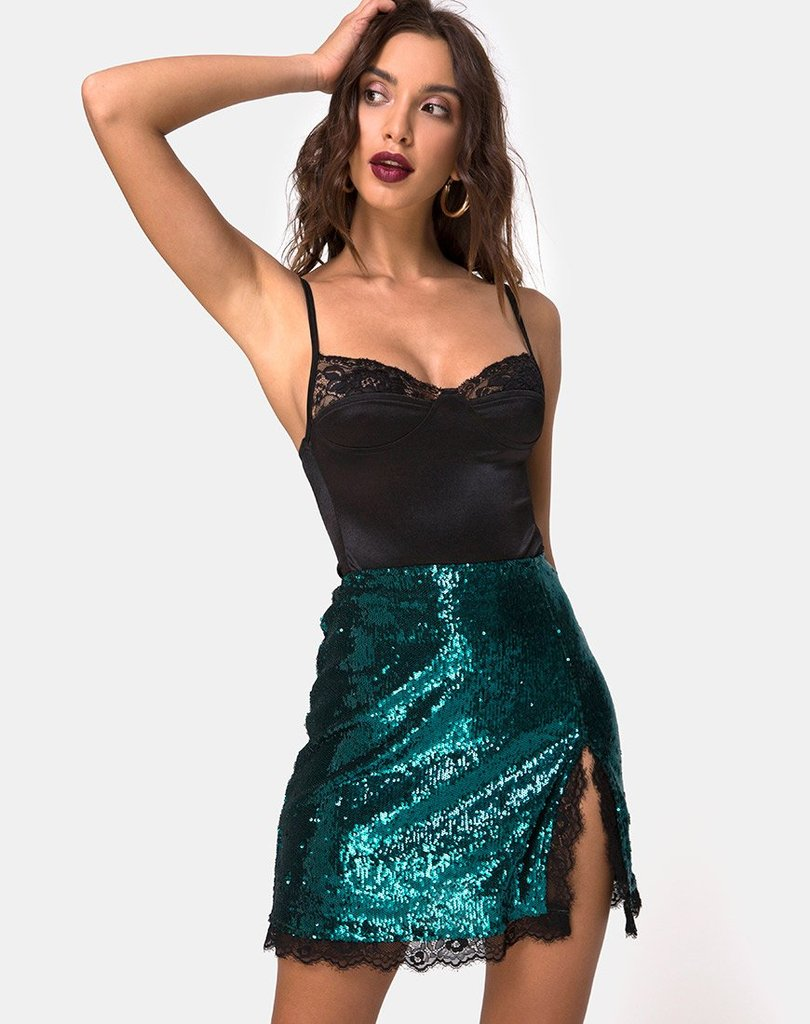 LENA MINI SEQUIN SKIRT