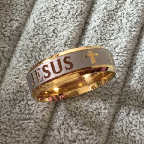 Jesus Cross Rings