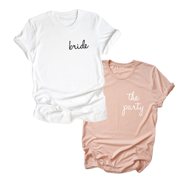 Bride + The Party Shirts - Cambridge Avenue Design