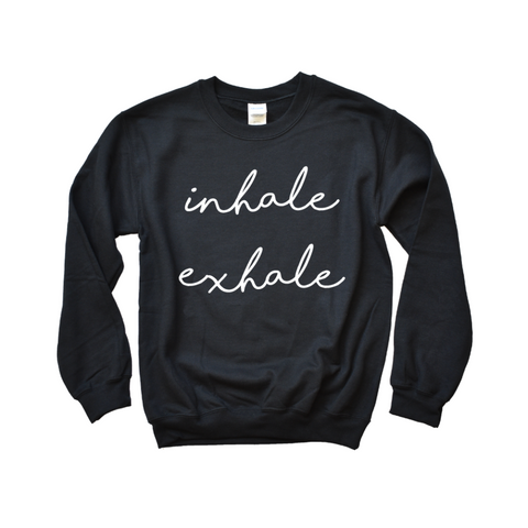 Inhale Exhale Yoga Sweatshirt - Cambridge Avenue Design