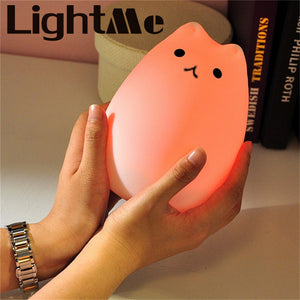 Silicone Kitty LED Night Light