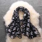 Fashion Wrap Scarf with Kitties