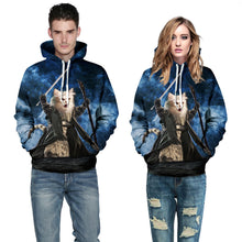Awesome Graphic Hoodie with Cat Gandalf None Shall Pass