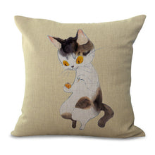 Cute Decorative Pillows with Kitties for Couches, Beds, Dorm Room