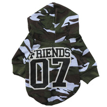 "Cat Shirt with Camo Pattern ""Friends 07"""