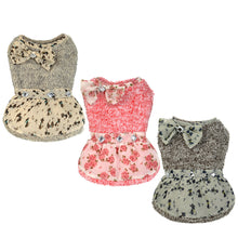Cat Dress in Pink, Grey and Beige