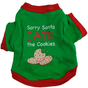 "Christmas Cat Shirt ""Sorry Santa, I Ate all the Cookies"""