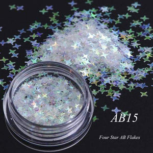 Full Beauty AB Chameleon Color Sequins Nail Art Glitter Flakes UV Gel Polish