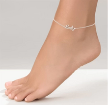Load image into Gallery viewer, Custom Name Anklet