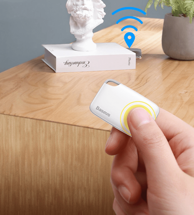 Anti-Lost Alarm Wireless Smart Tracker White With Rope - DiyosWorld