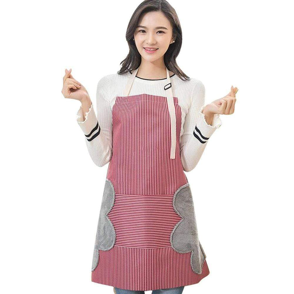 Aprons Waterproof Stain Erasable Apron Red - DiyosWorld