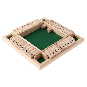 Board Games Deluxe Four Sided 10 Numbers Box Board Game - DiyosWorld