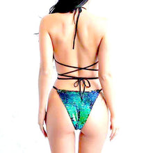 Load image into Gallery viewer, Shiny Color-Changing Monokini Swimsuit
