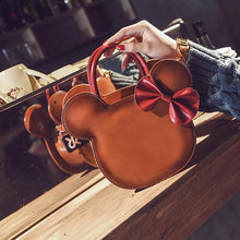 Load image into Gallery viewer, Luxury Bowknot Leather Hand Bag