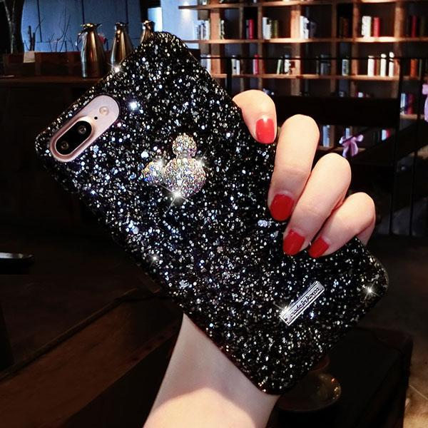 cartoon Luxury Crystal Mobile Cover Black / For iPhone 6 6S - DiyosWorld