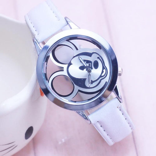 Cute Transparent Hollow Dial Leather Watch