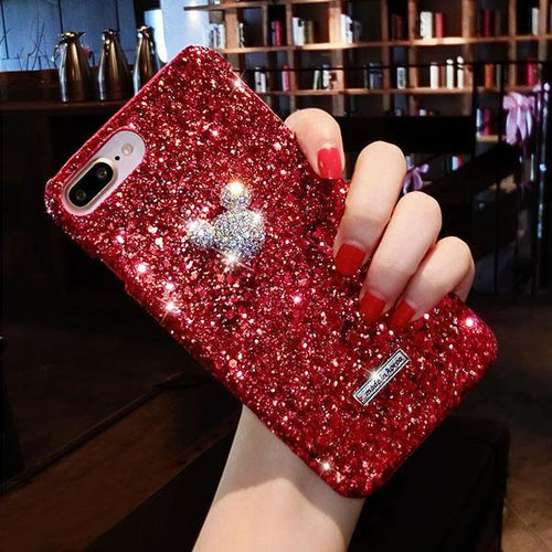 cartoon Luxury Crystal Mobile Cover Red / For iPhone 6 6S - DiyosWorld
