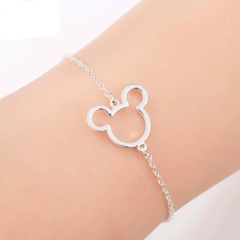 Chain & Link Bracelets Modern Cartoon-Shaped Pendant Bracelet Silver Plated - DiyosWorld